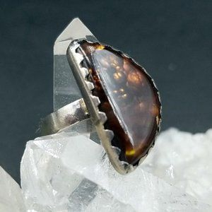 Artisan Sterling Mexican Fire Agate Ring